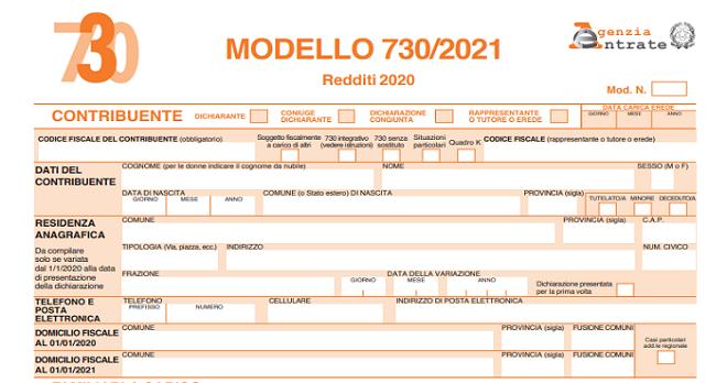 modello 730 precompilato