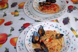 Menù di pesce per due persone con 5 euro