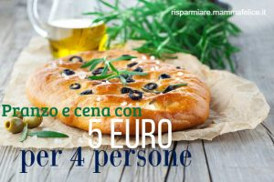Pranzo e cena con 5 euro per 4 persone